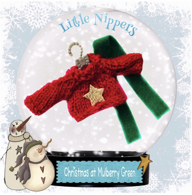 Little Nippers' Christmas Jumper and Scarf Set
