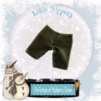 Little Nippers' Olive Green Corduroy Trousers