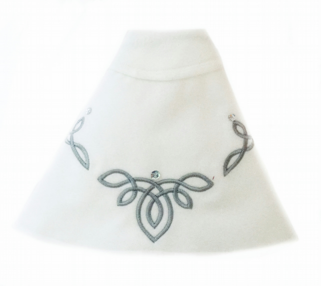 Reserved for Beverly - White and Silver Embroidered Cape