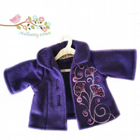 Purple Embroidered Jacket