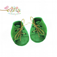 Emerald Green Lace-up Shoes