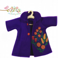 Embroidered Purple Coat