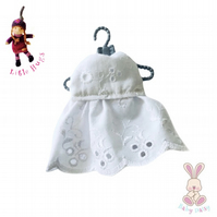 White Broderie Anglais Dress to fit the Little Hugs dolls and Baby Daisy
