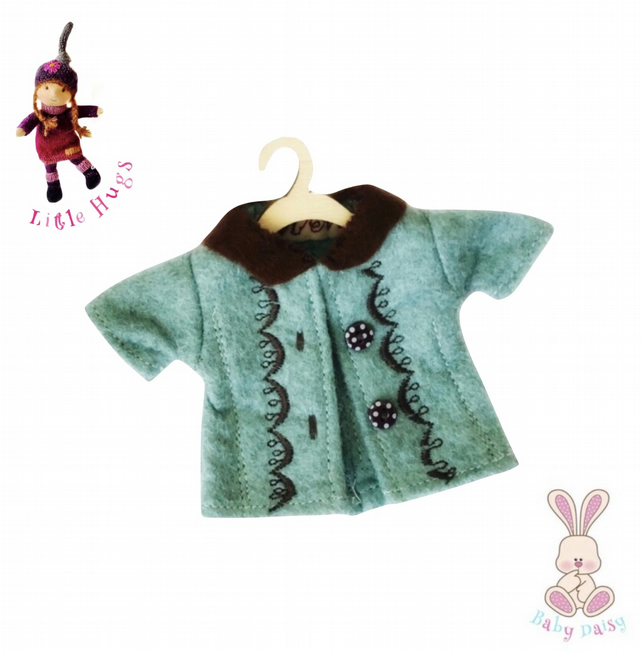 Turquoise Embroidered Coat to fit the Little Hugs dolls and Baby Daisy
