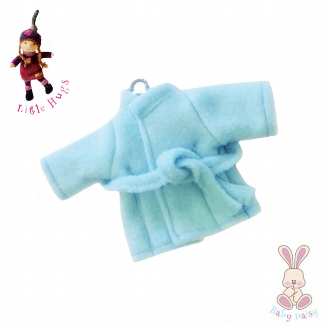 Blue Fleece Dressing Gown to fit the Little Hugs dolls and Baby Daisy