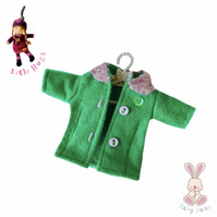 Green and Lavender Coat to fit the Little Hugs dolls and Baby Daisy
