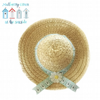 Beach Huts Sun Hat to fit the Mulberry Green characters