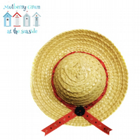 Red Anchors Sun Hat to fit the Mulberry Green characters