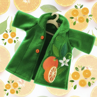 Zesty Oranges Embroidered Coat