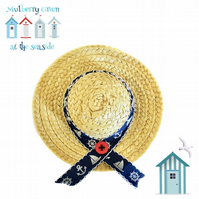 Ship Ahoy Sun Hat to fit the Mulberry Green characters