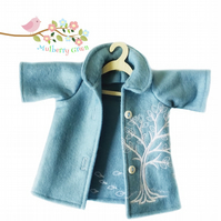Embroidered Winter Tree Tailored Coat
