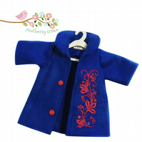 Tailored and Embroidered Royal Blue Coat