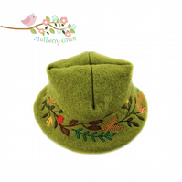 Embroidered Felt Hat