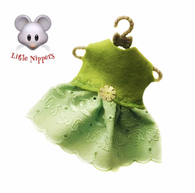 Little Nippers' Green Broderie Anglais Dress