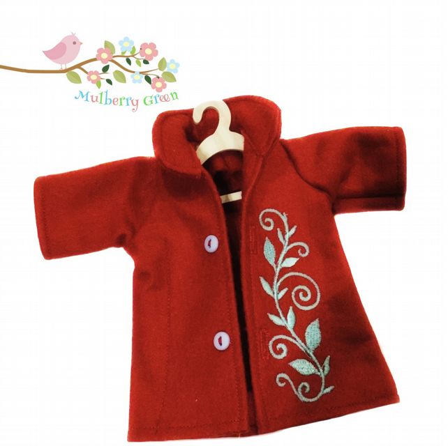 Ruby Red Tailored Coat