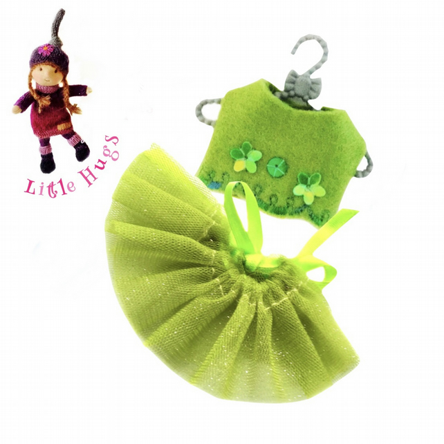 Little Hugs' Apple Green Party Outfit