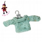 Speckled Turquoise Jumper to fit the Little Hug Dolls