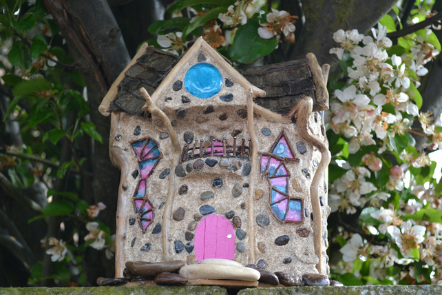 Magical woodland fairy house
