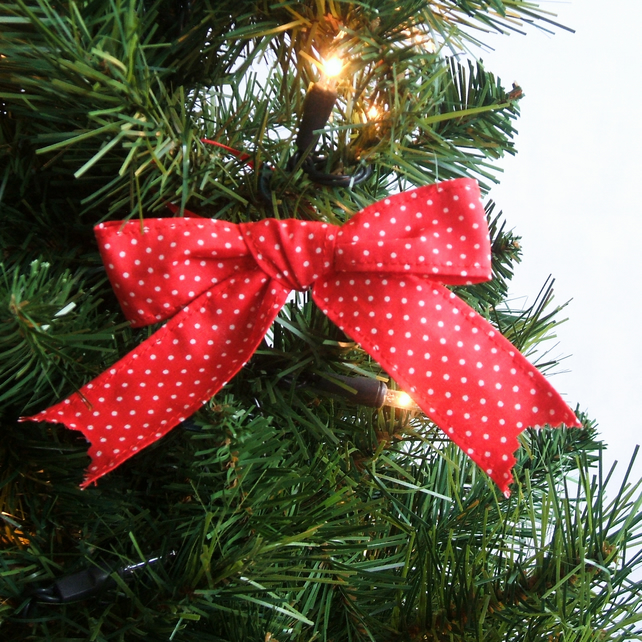 Christmas Tree Bows Red.Christmas Tree Bows Set Of 6 Scandinavian Spots And Stripes