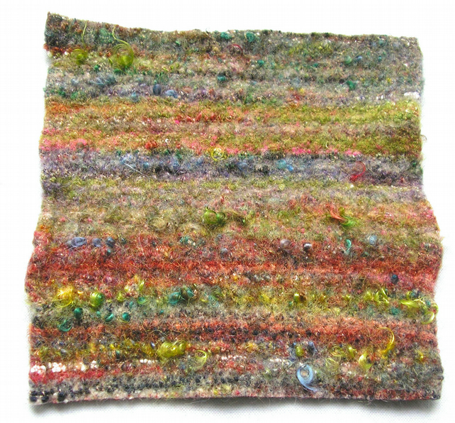 Felt Fabric Hand Felted Textured Handwoven Wool and luxury fiber Felt  TF46