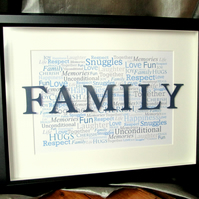 Family Word Art Box Frame
