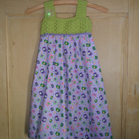 Bright and summery crochet bodice dress 3 - 4 years
