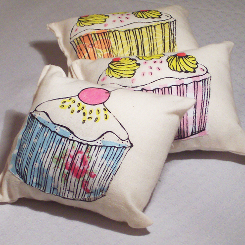 Lavender, sweet orange and cinnamon scented cushions