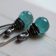 Spirited Sea Earrings - made with apatite and oxidized sterling silver