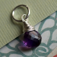 Amethyst and Sterling Silver Pendant - pick your own pendants and chain