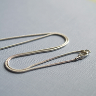 Silver plated snake chain with clasp - add your own pendants