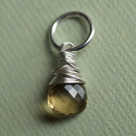 Citrine and Sterling Silver Pendant - pick your own pendants and chain