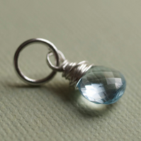 Blue Topaz and Sterling Silver Pendant - pick your own pendants and chain