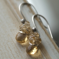 Grecian Goddess Earrings - made with citrine and sterling silver