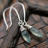 Icicle Earrings - made with pale blue chalcedony and sterling silver