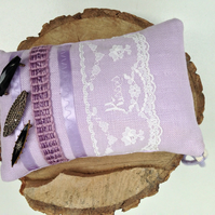 Handmade and Upcycled Brooch Pillow