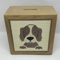 An Adorable Brown Dog (Spaniel) Money Box (Piggy Bank)