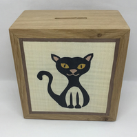 An Adorable Black Cat Money Box (Piggy Bank)