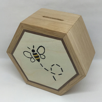 A Cute Busy Bee Hexagonal Money Box ( Piggy Bank)