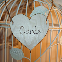 Wedding Decoration, Wooden Heart,Card Signage, Card box sign