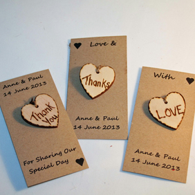6 Wedding Favours Personalised Favours Love Tokens
