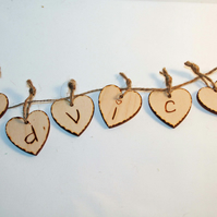 Advice banner, Wedding Decoration, Advice Heart Garland,  Advice Banner
