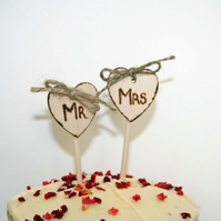 Mr & Mrs Mini Cake Topper, Small cake topper, Mr & Mrs Topper
