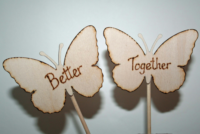 Better Together Cake Topper Butterfly Wedding Theme Wedding Cake Topper