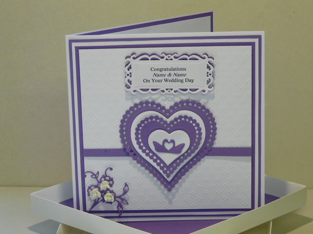 Handcrafted Wedding Card Can Be Personalised A Swan S Love