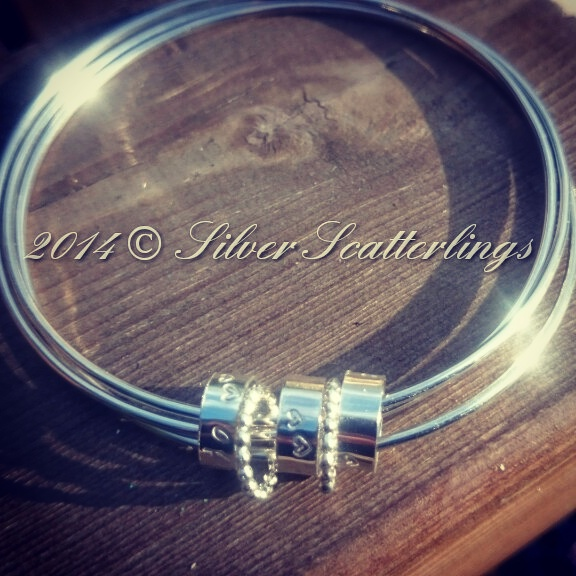 Triple mini ring bangle