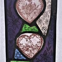 Contemporary Stained Glass - True Love