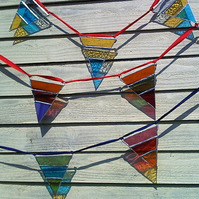 Stripy Stained Glass Bunting