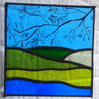 The View From Under a Tree, Stained Glass Panel