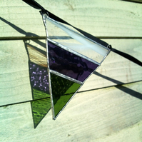 Autumn Berries Stripey Stained Glass Bunting