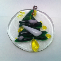 Christmas Tree, Recycled Fused Glass Christmas Decoration